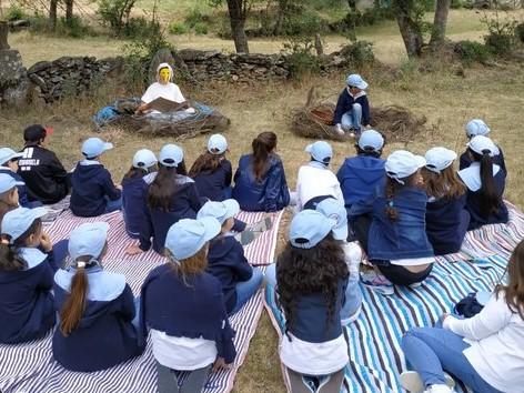 """""""Teatro de lameiro"""" e jogo didático sensibilizam crianças para a conservação da águia-de-Bonelli"""