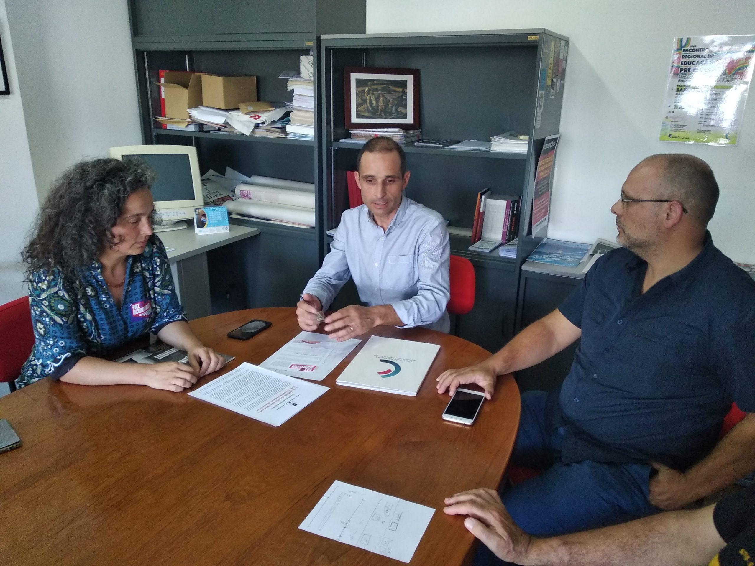 Mariana Falcato Simões reúne com o Sindicato de Professores do Norte em Vila real