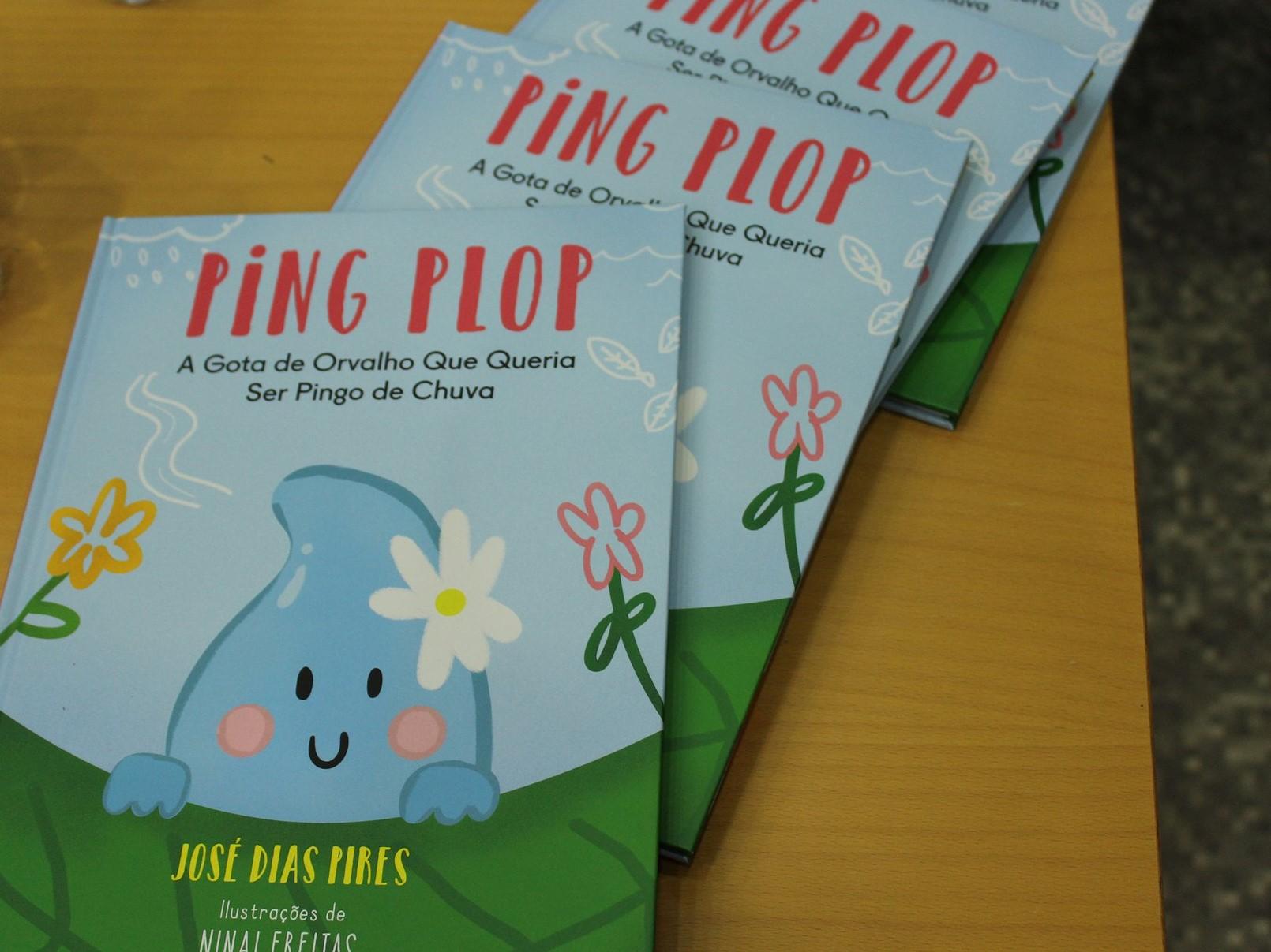 """José Dias Pires publica """"Ping Plop: A gota de orvalho que queria ser pingo de chuva"""""""