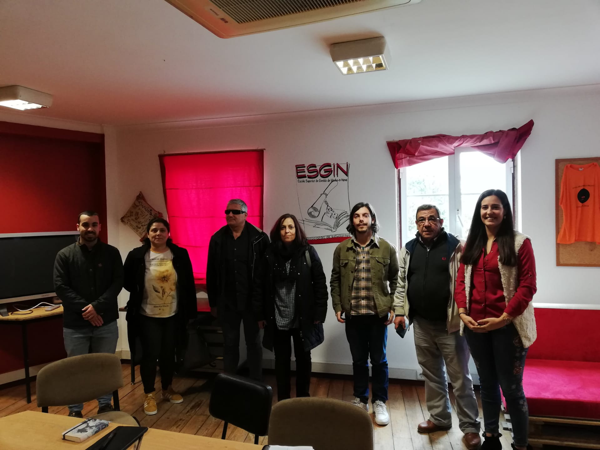 Luís Monteiro, deputado do Bloco, visitou a ESGIN em Idanha-à-Nova