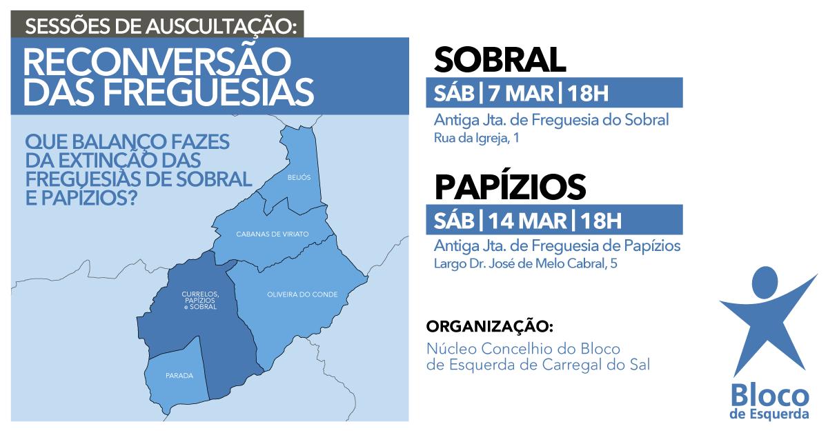 Sobral e Papízios, no concelho de Carregal do Sal, vão fazer balanço da extinção das freguesias