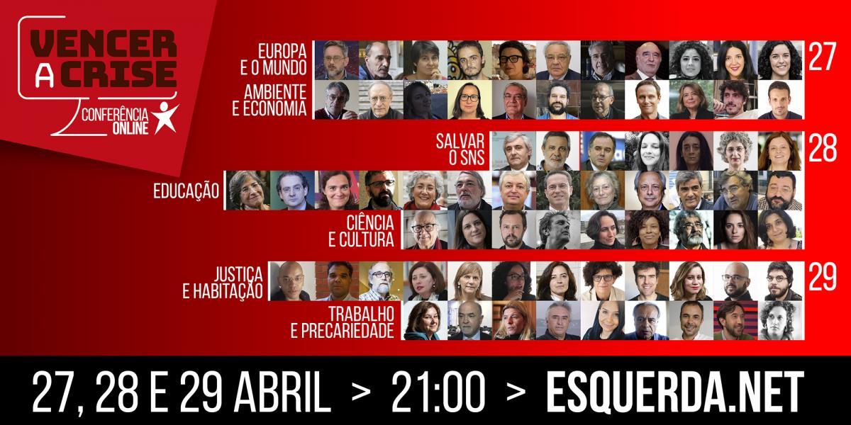 VENCER A CRISE: Conferência online junta 90 especialistas e ativistas entre 27 e 29 de abril