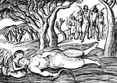 LINOGRAVURA MORTE DE CATARINA EUFÉMIA | José Dias Coelho no Museu do Neo-Realismo