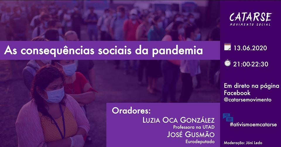 Catarse/Movimento Social discute em debate online as consequências sociais da pandemia
