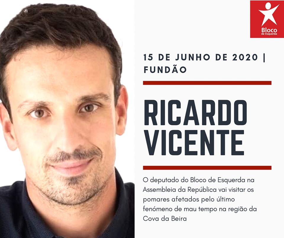 Ricardo Vicente visita áreas agrícolas afetadas pelo mau tempo no distrito de Castelo Branco