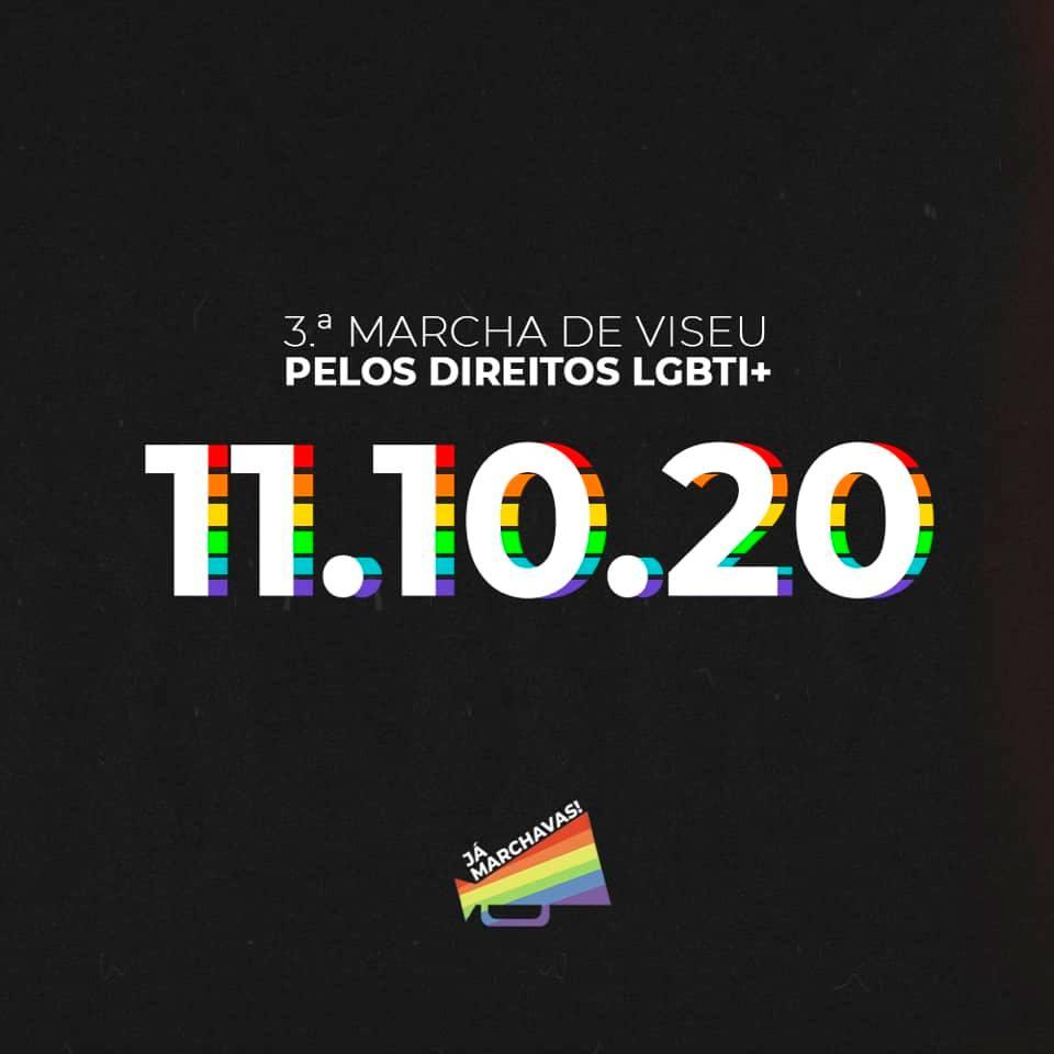 Anunciada data da 3.ª Marcha de Viseu Pelos Direitos LGBTI+