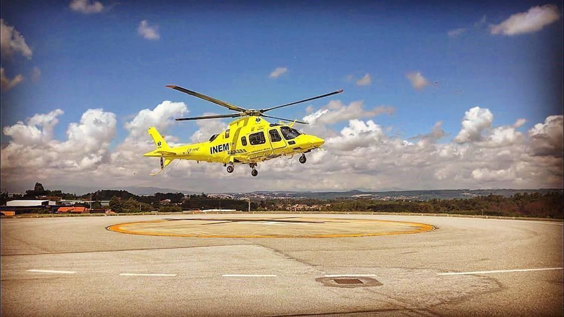 Helicóptero do INEM relocalizado para base temporária em Loures