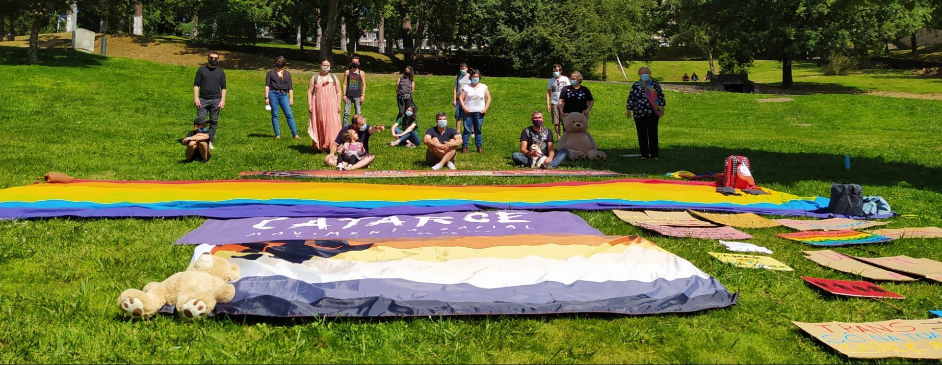 A Catatarse/ Movimento Social celebrou ontem o Mês do Orgulho LGBTI+