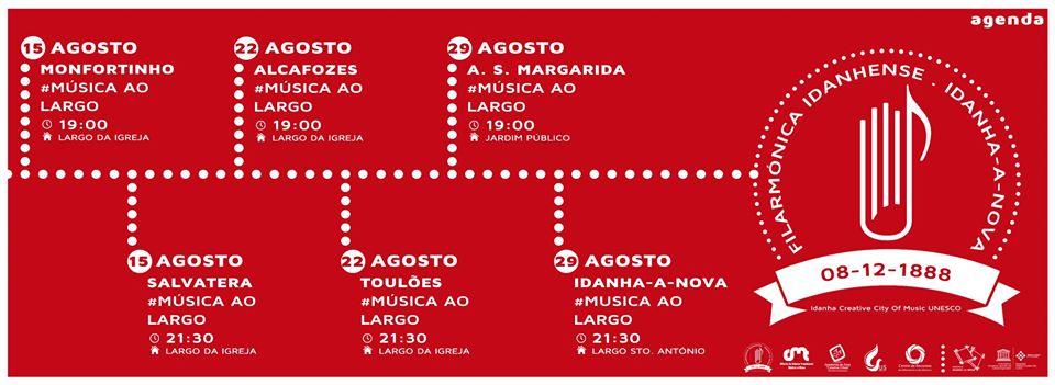 """""""Música ao Largo"""": Filarmónica Idanhense promove ciclo de concertos ao ar livre"""