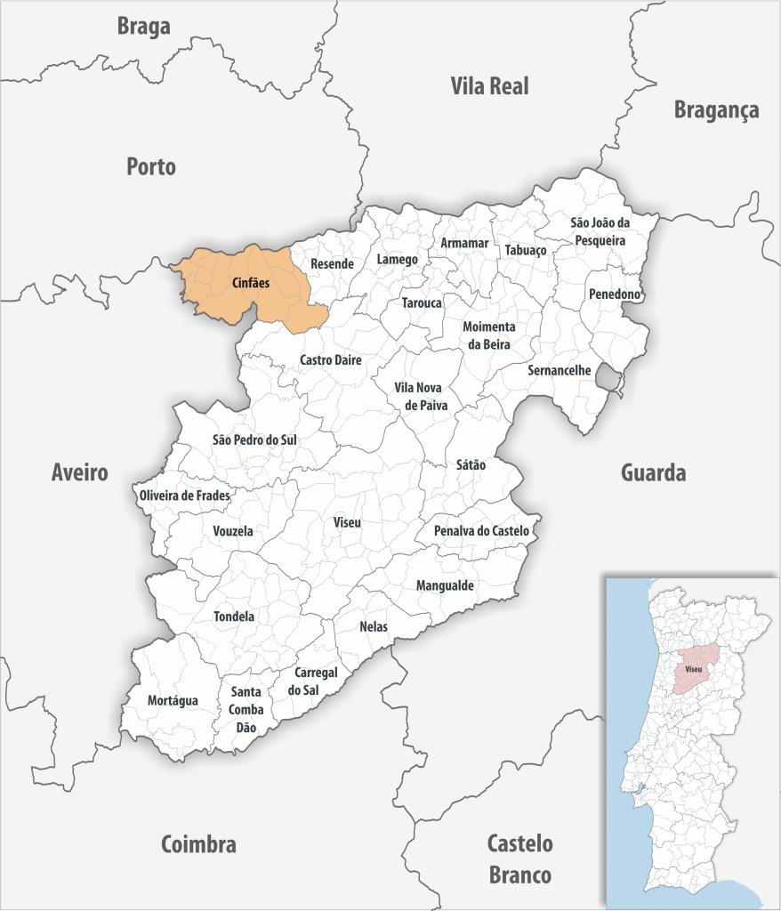 Cinfães - Mapa
