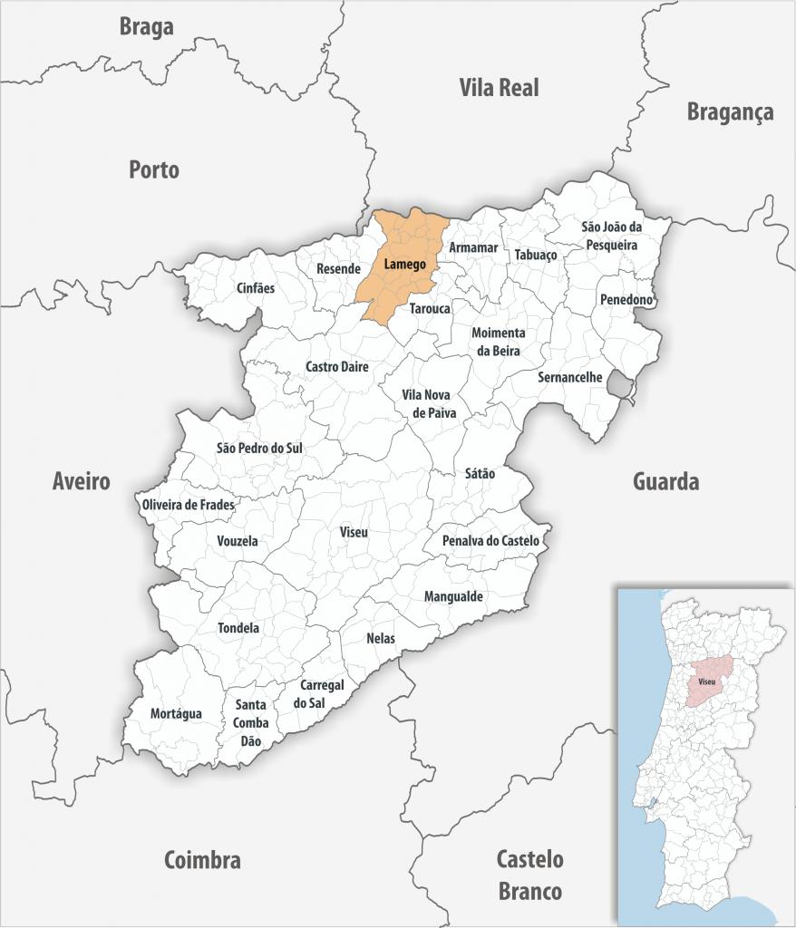 Lamego - Mapa