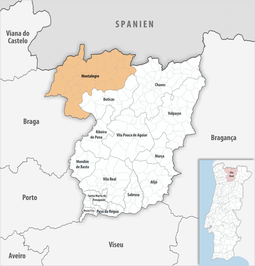 Montalegre - Mapa
