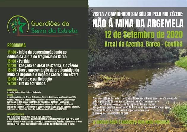 Caminhada no Rio Zêzere contra a mina da Argemela