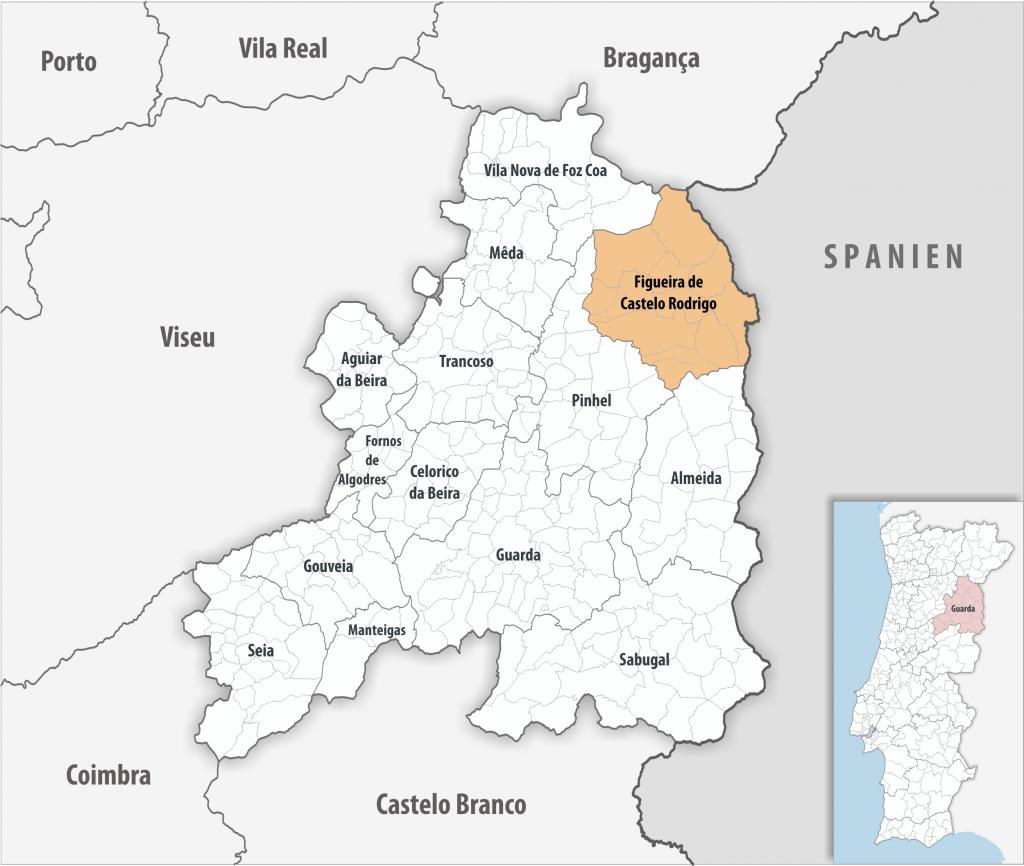 Figueira de Castelo Rodrigo - Mapa