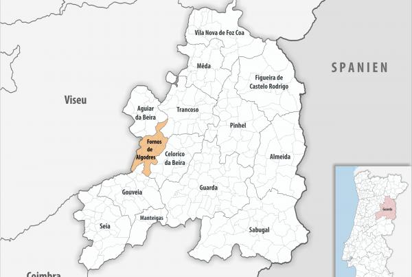 Fornos de Algodres - Mapa
