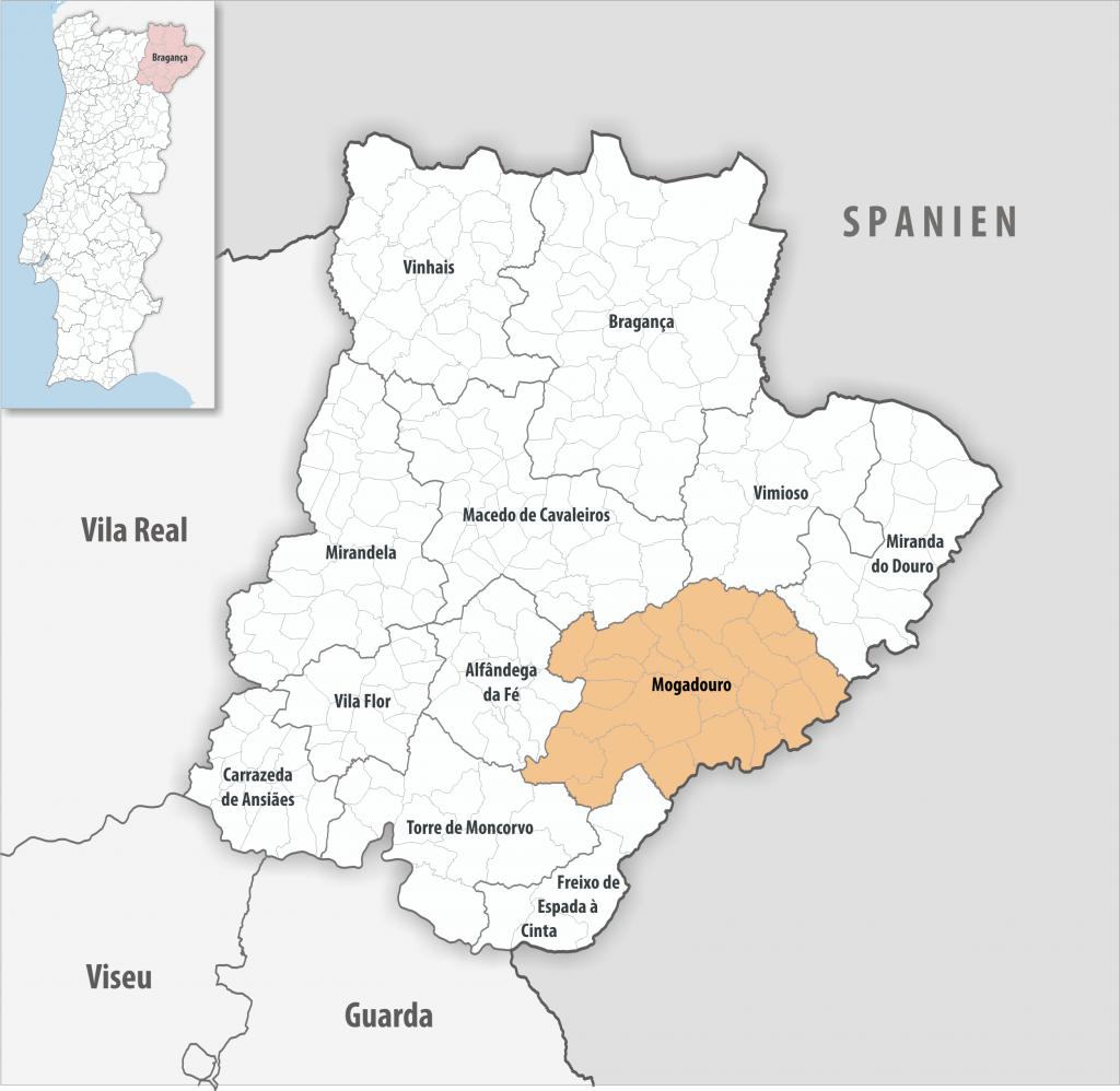 Mogadouro - Mapa