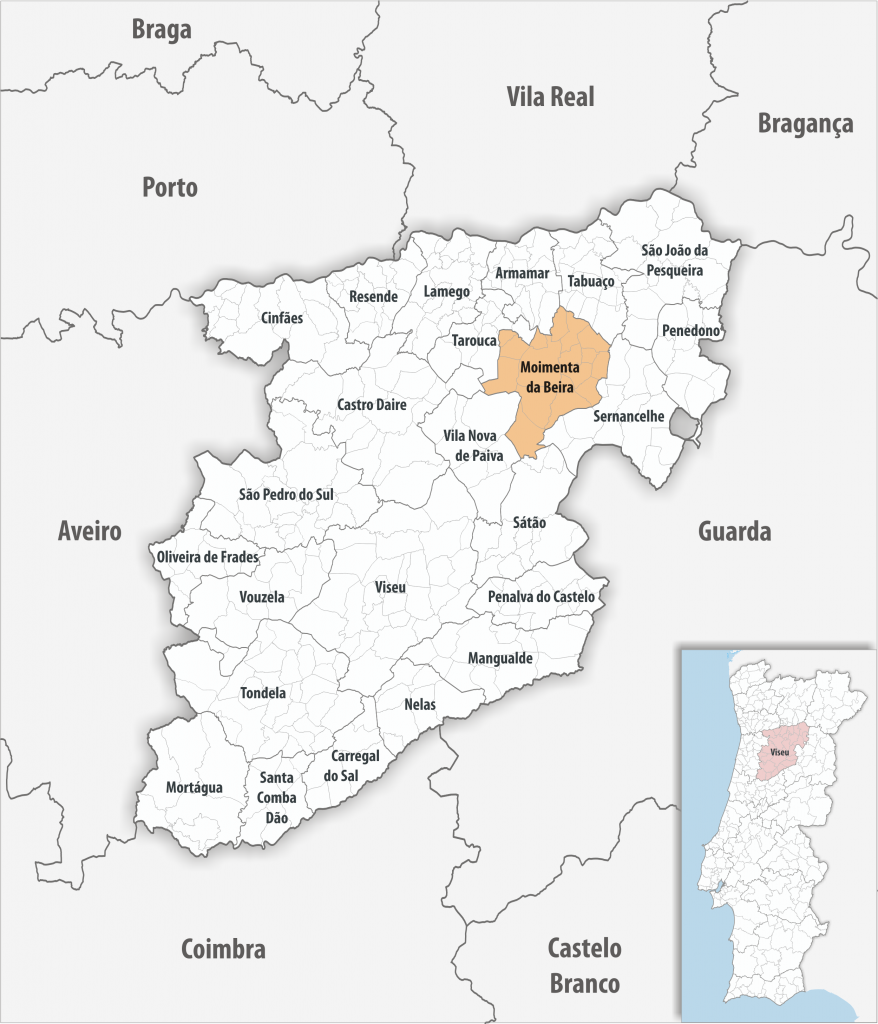 Moimenta da Beira - Mapa
