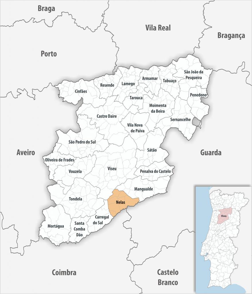Nelas - Mapa