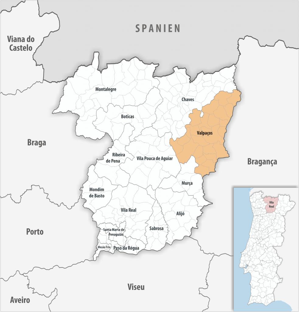 Valpaços - Mapa