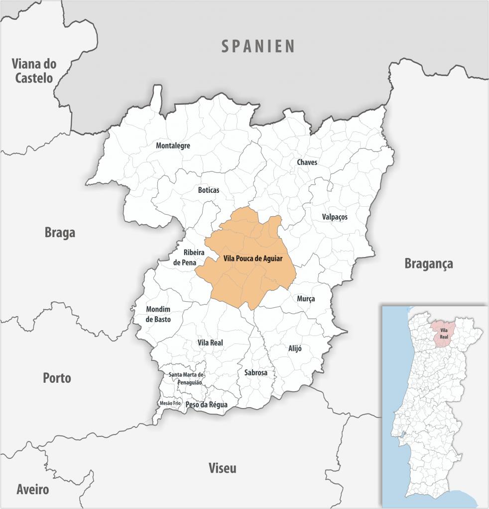 Vila Pouca de Aguiar - Mapa