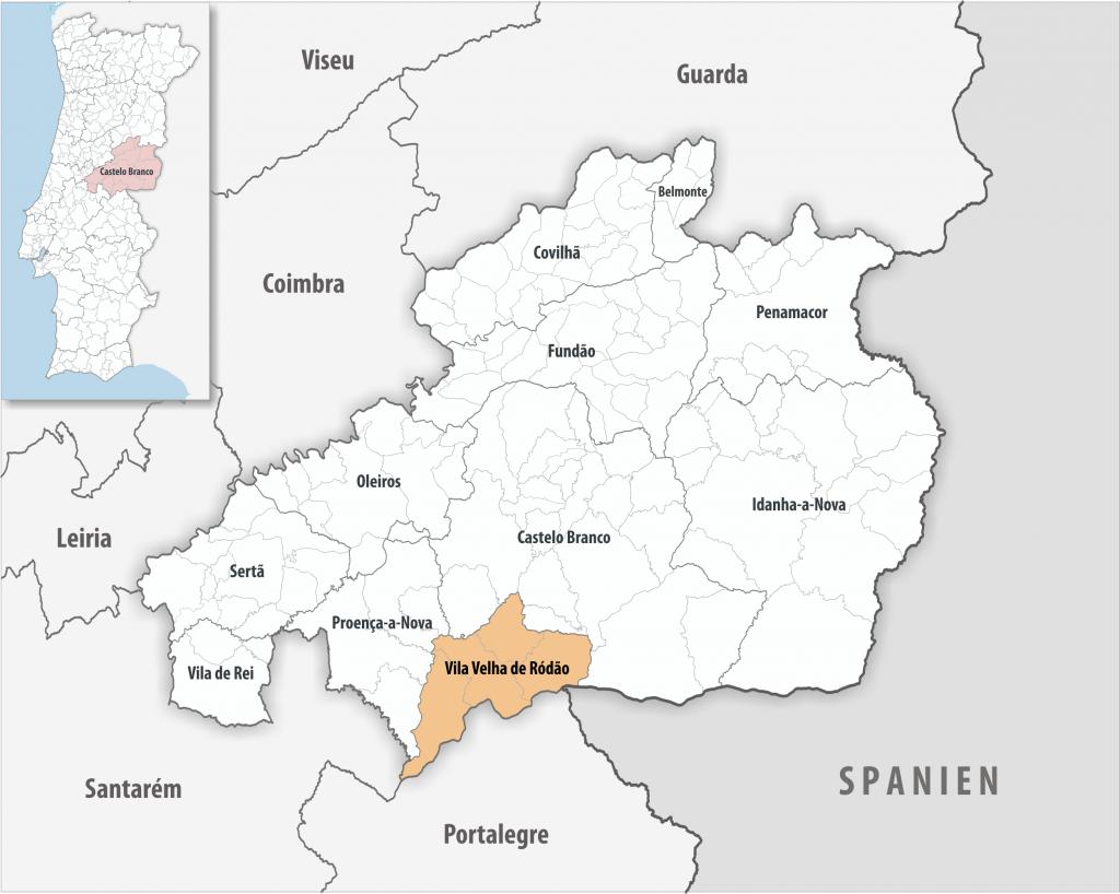 Vila Velha de Ródão - Mapa