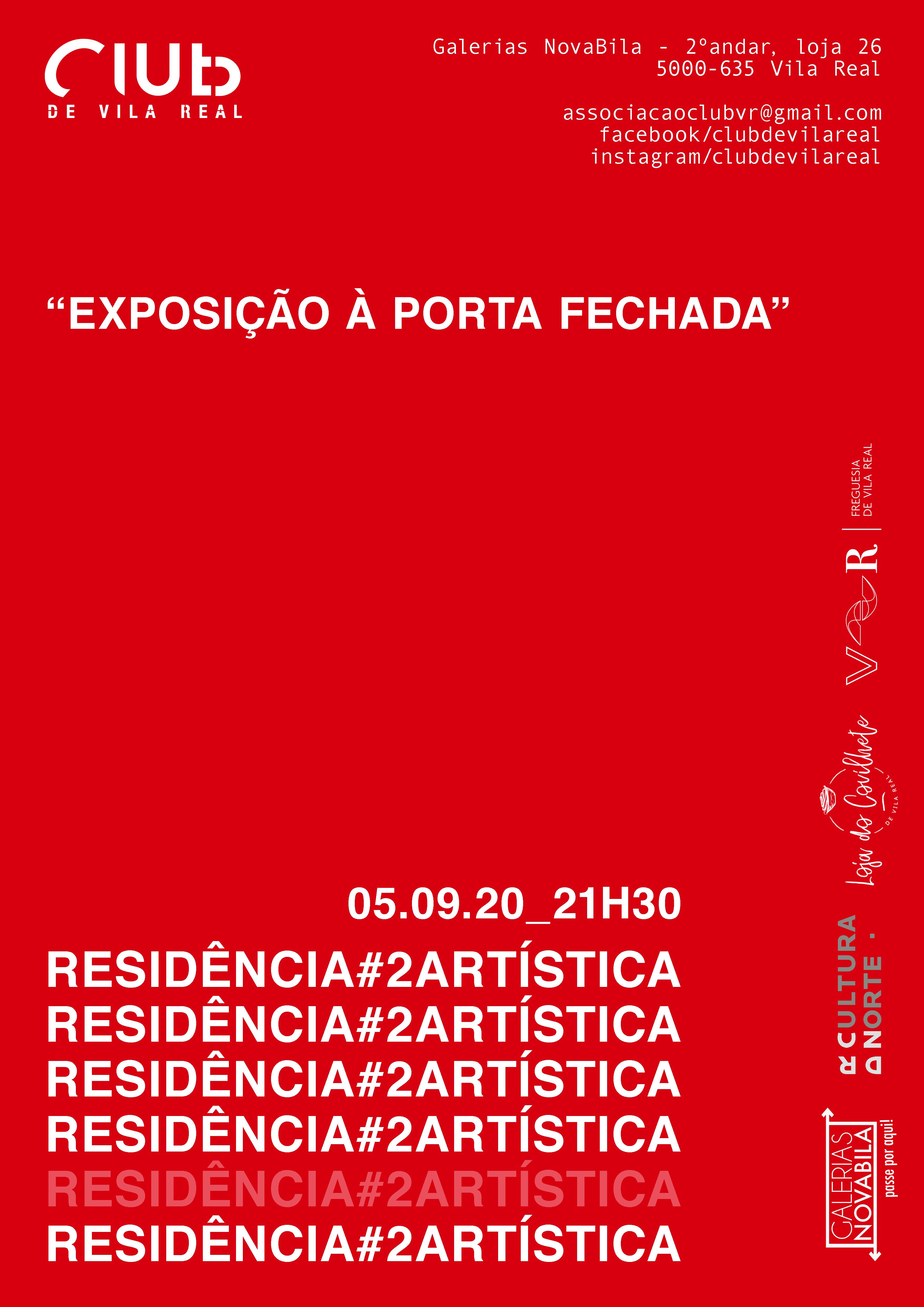 2º Residência Artística do Club de Vila Real inaugurada este sábado
