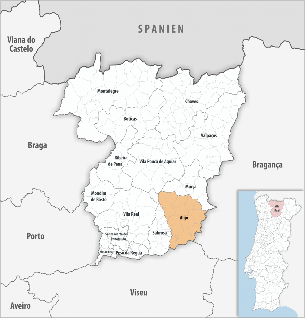 Alijó - Mapa