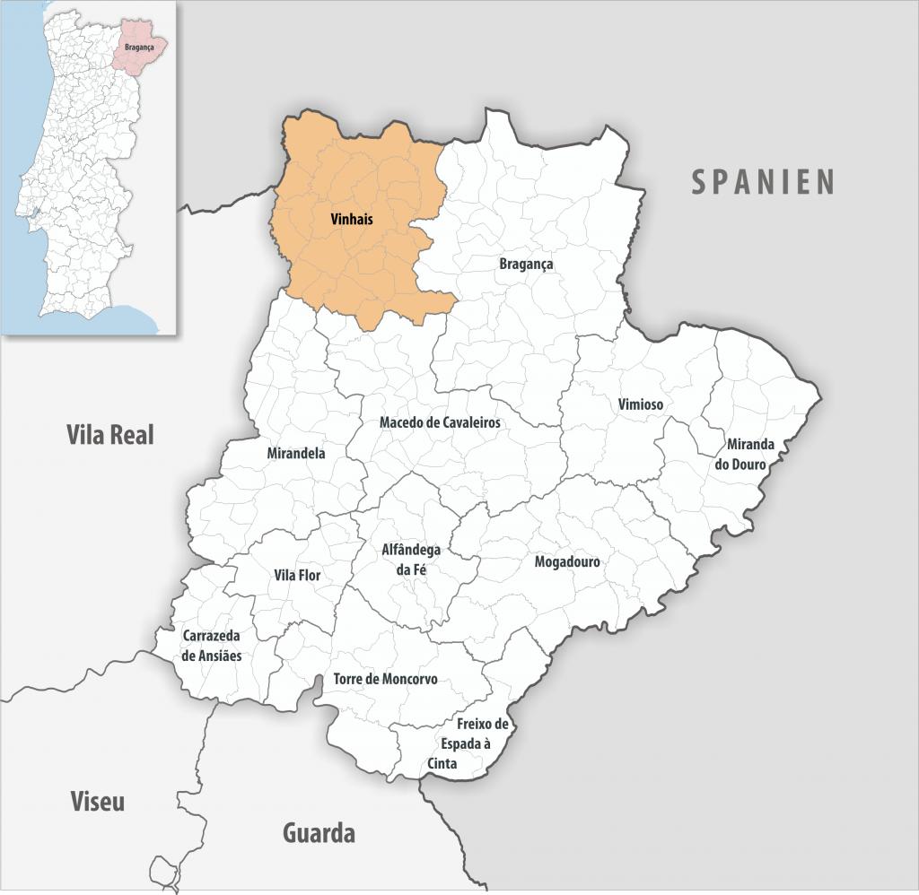 Vinhais - Mapa