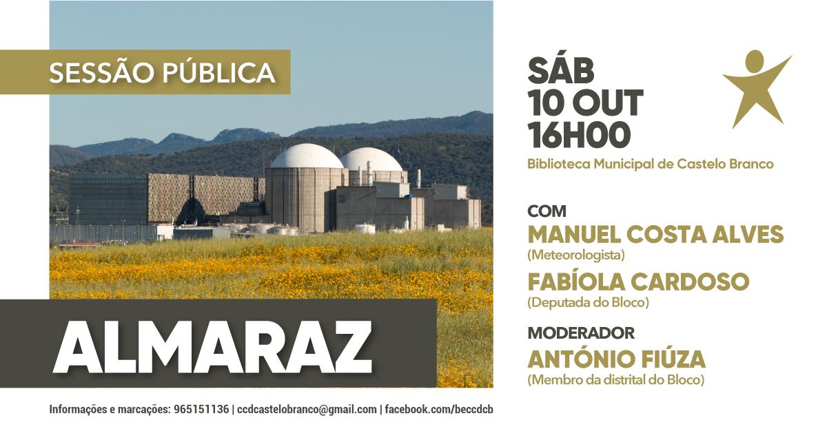Central Nuclear de Almaraz: Bloco organiza sessão pública no dia 10 de outubro