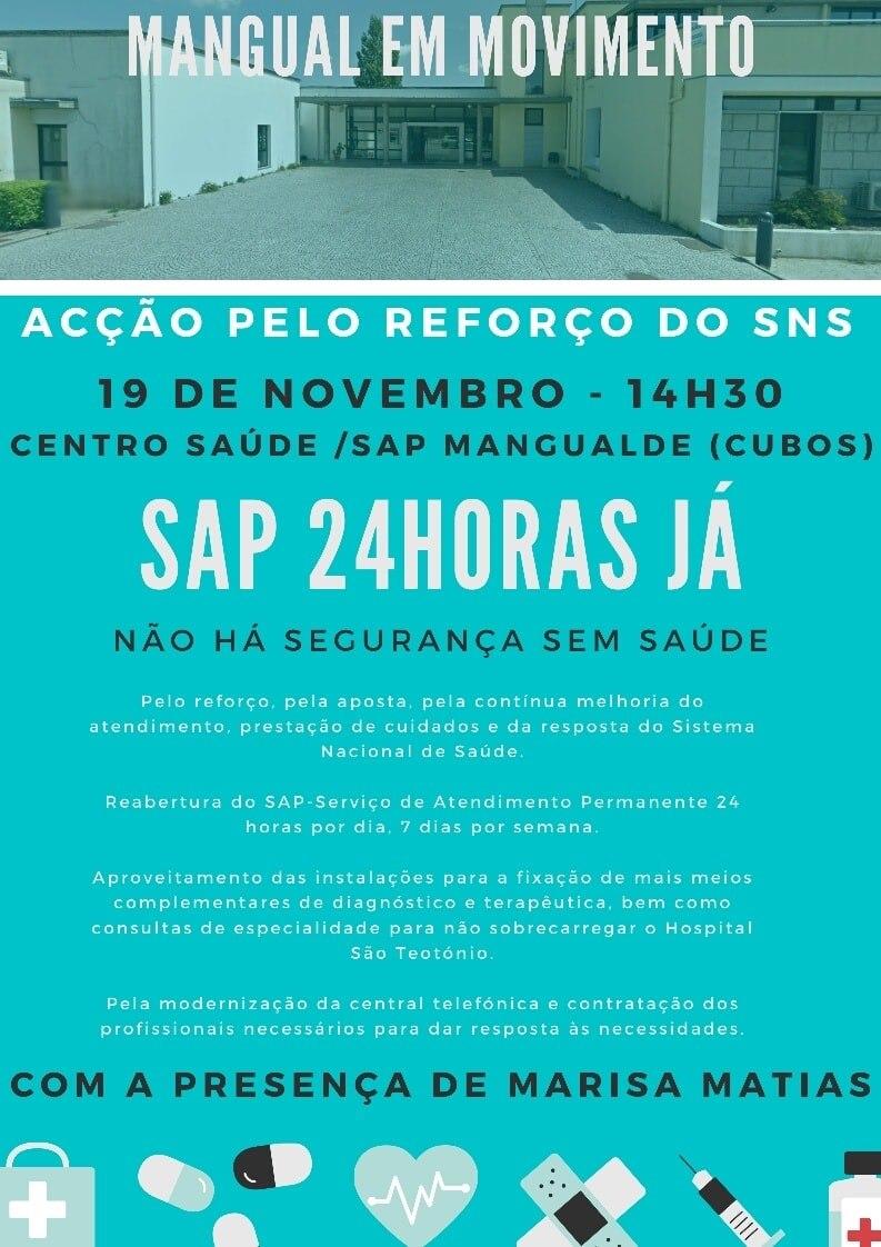 Ação simbólica pela reposição do SAP a 100% em Mangualde