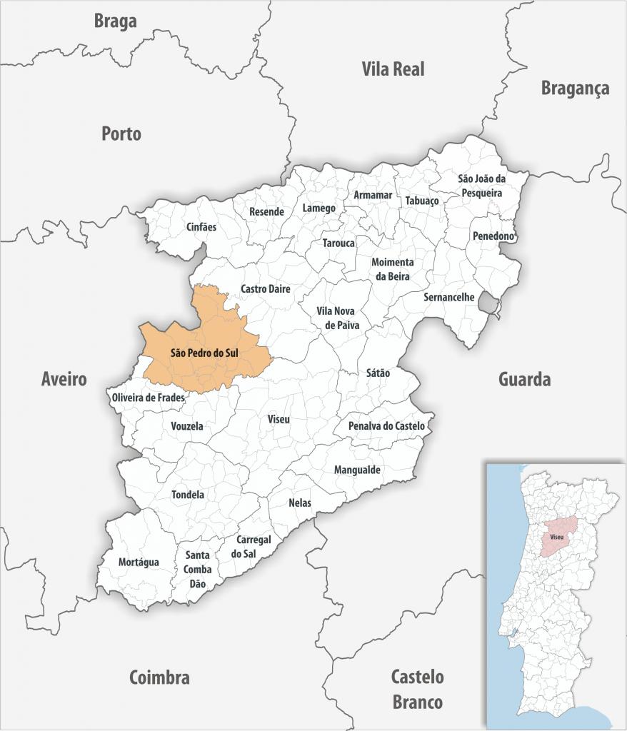 Mapa - São Pedro do Sul