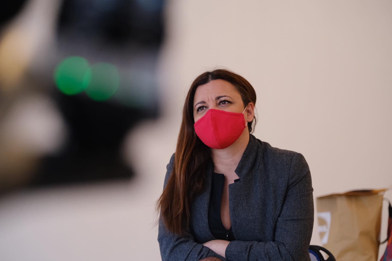 Marisa Matias em contato com as populações do distrito de Castelo Branco