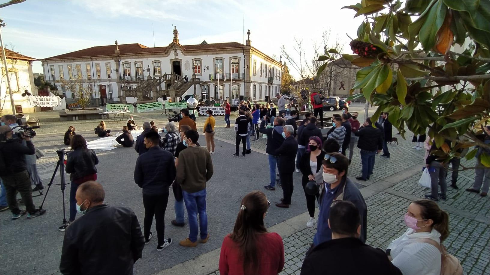 Manifestação do setor da restauração em Vila Real