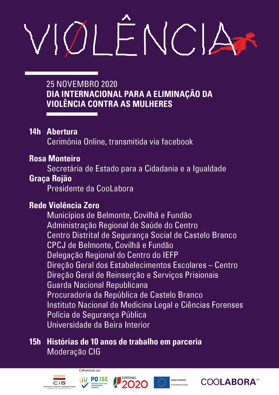 Dia Internacional para a Eliminação da Violência Contra as Mulheres assinalado em Belmonte, Covilhã e Fundão