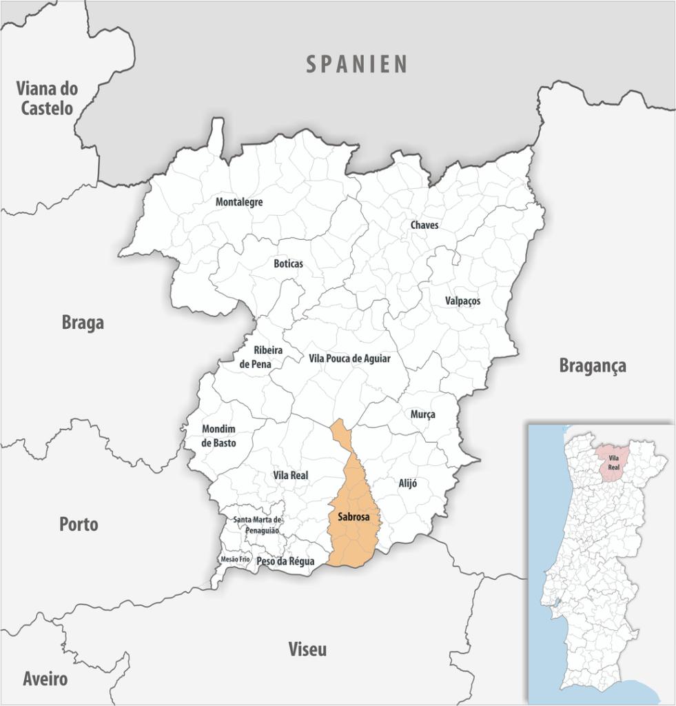 Sabrosa - Mapa