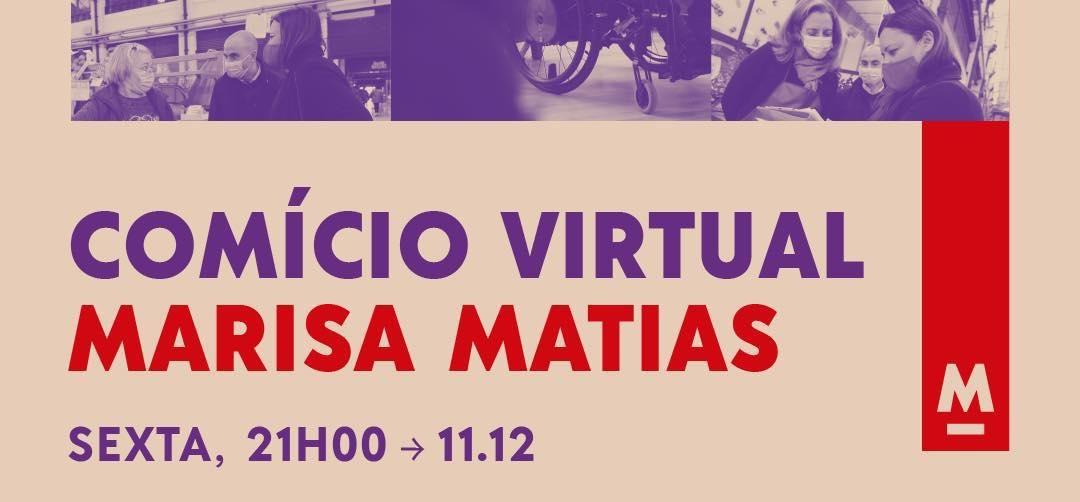 Esta sexta à noite há comício online de Marisa Matias