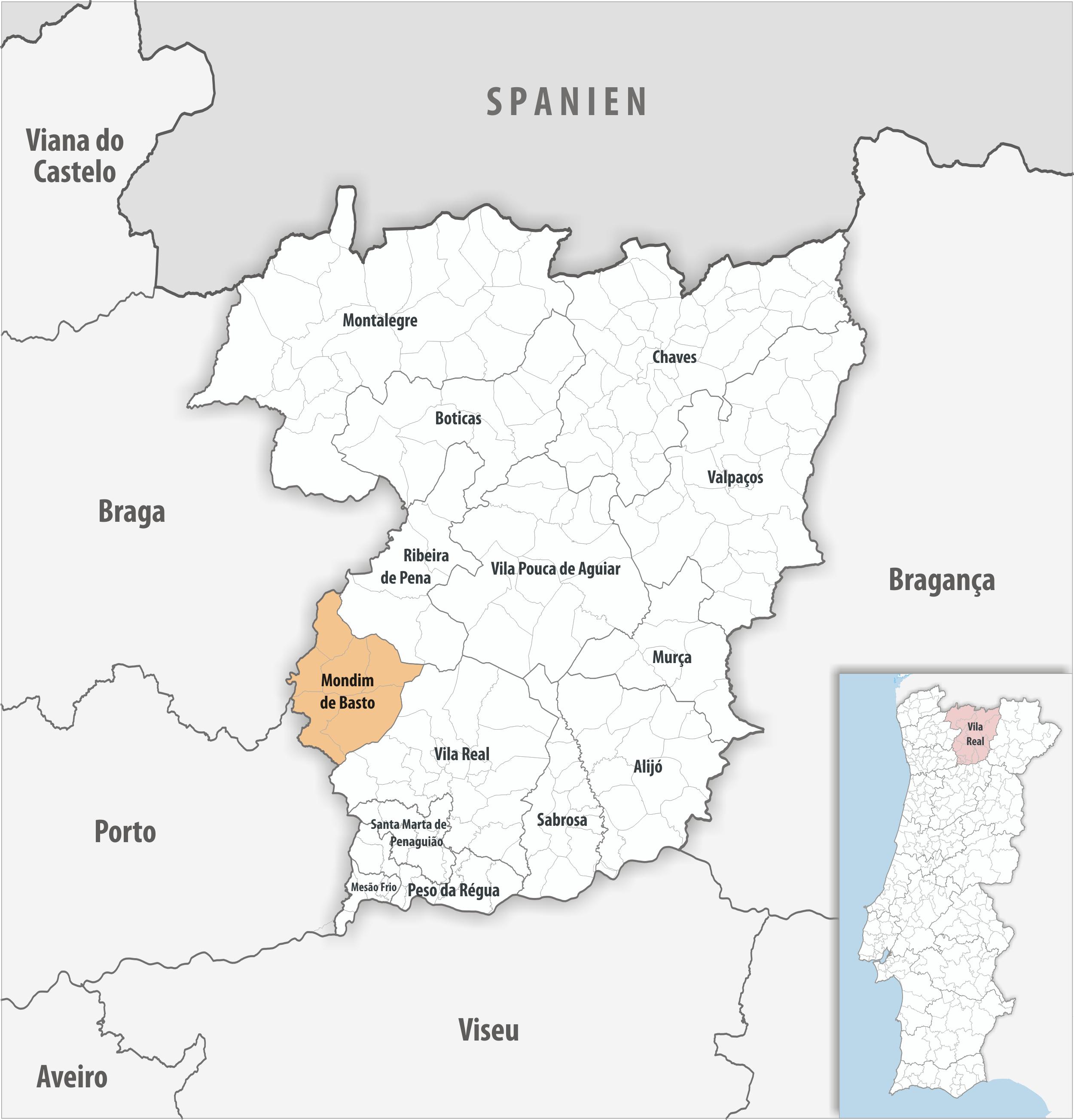 Mondim de Basto - Mapa