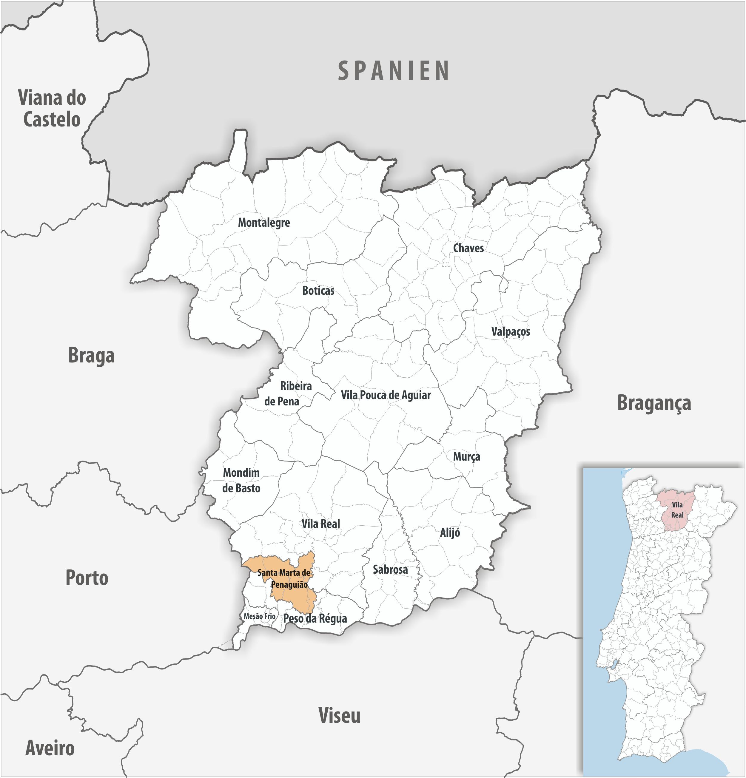 Santa Marta de Penaguião - Mapa