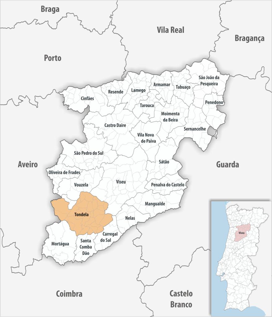 Tondela - Mapa