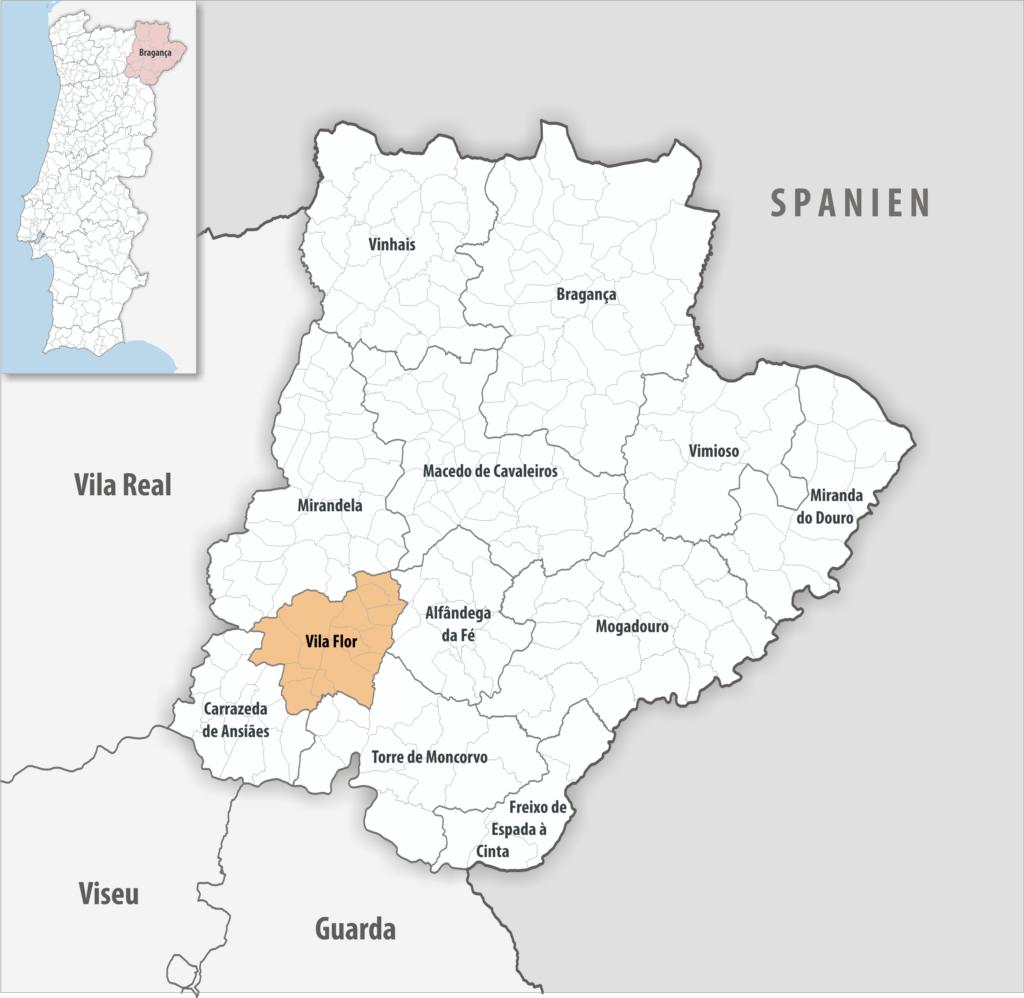 Vila Flor - Mapa