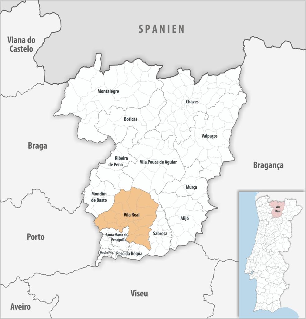 Vila Real - Mapa