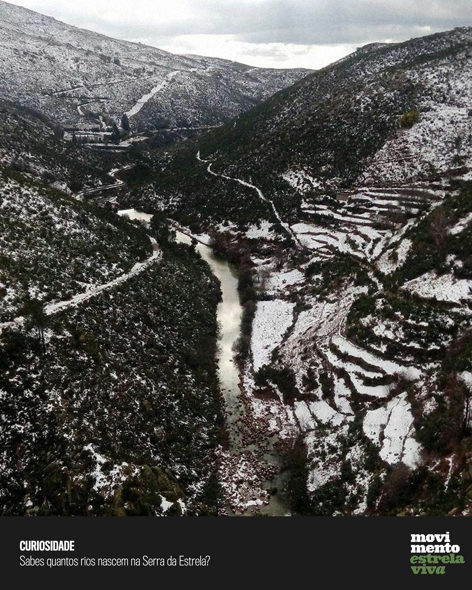 Curiosidade #17 – Sabes quantos rios nascem na Serra da Estrela?