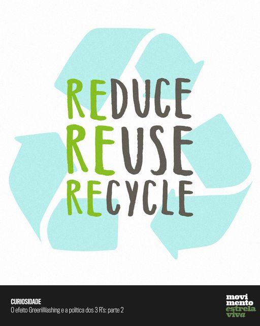 Dicas Sustentáveis – O efeito GreenWashing e a política dos 3 R's: parte 2
