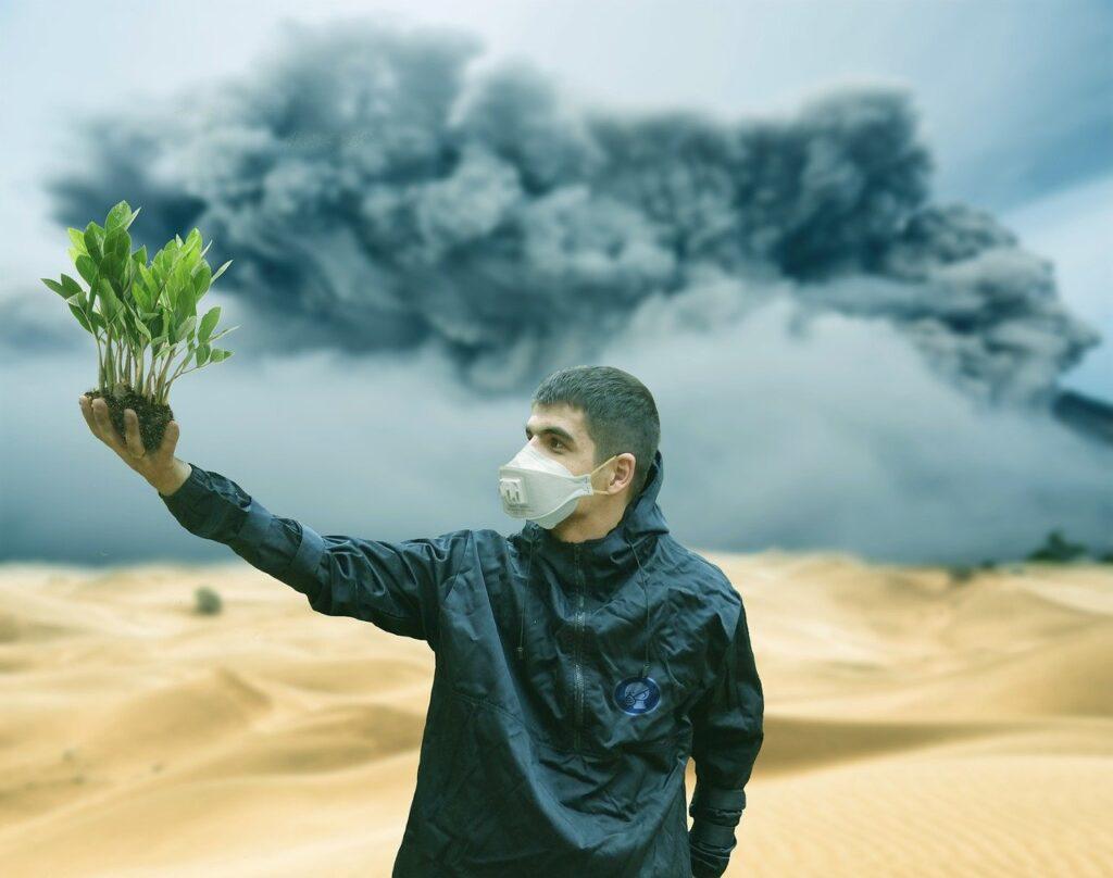 Máscara/ Poluição/ Natureza