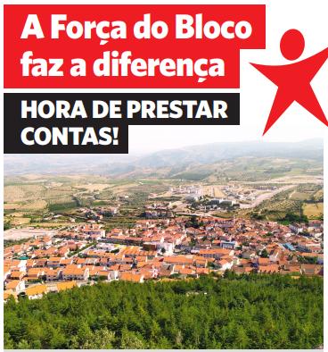 Vila Flor: Bloco lança panfleto de prestação de contas dos 4 anos de mandato na Assembleia Municipal