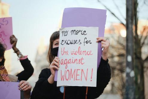Cartaz - Violência contra as mulheres