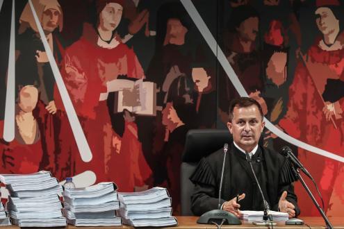 """Juiz Ivo Rosa na sessão desta sexta-feira sobre a """"Operação Marquês"""". Foto de Mário Cruz/Lusa"""