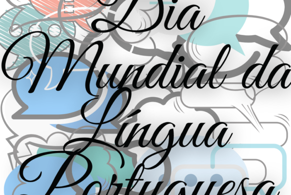 Balões de Fala sobrepostos pela frase Dia Mundial da Língua Portuguesa