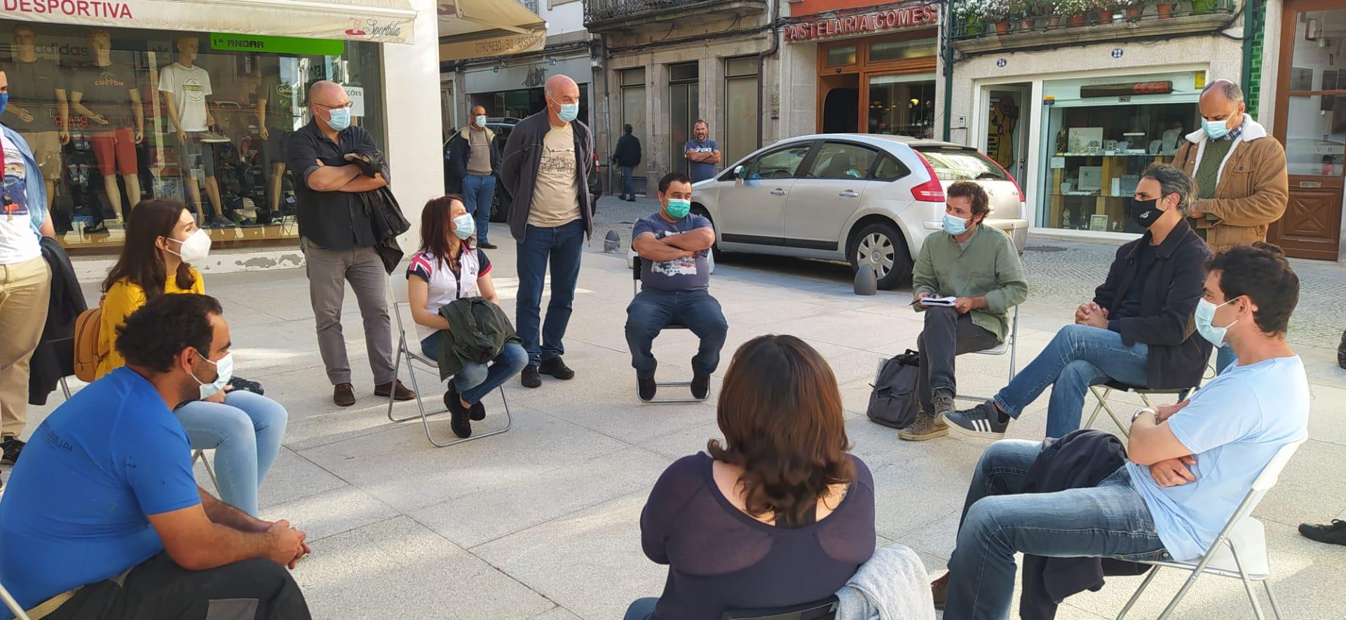 José Soeiro reuniu com ex-trabalhadores do Miraneve