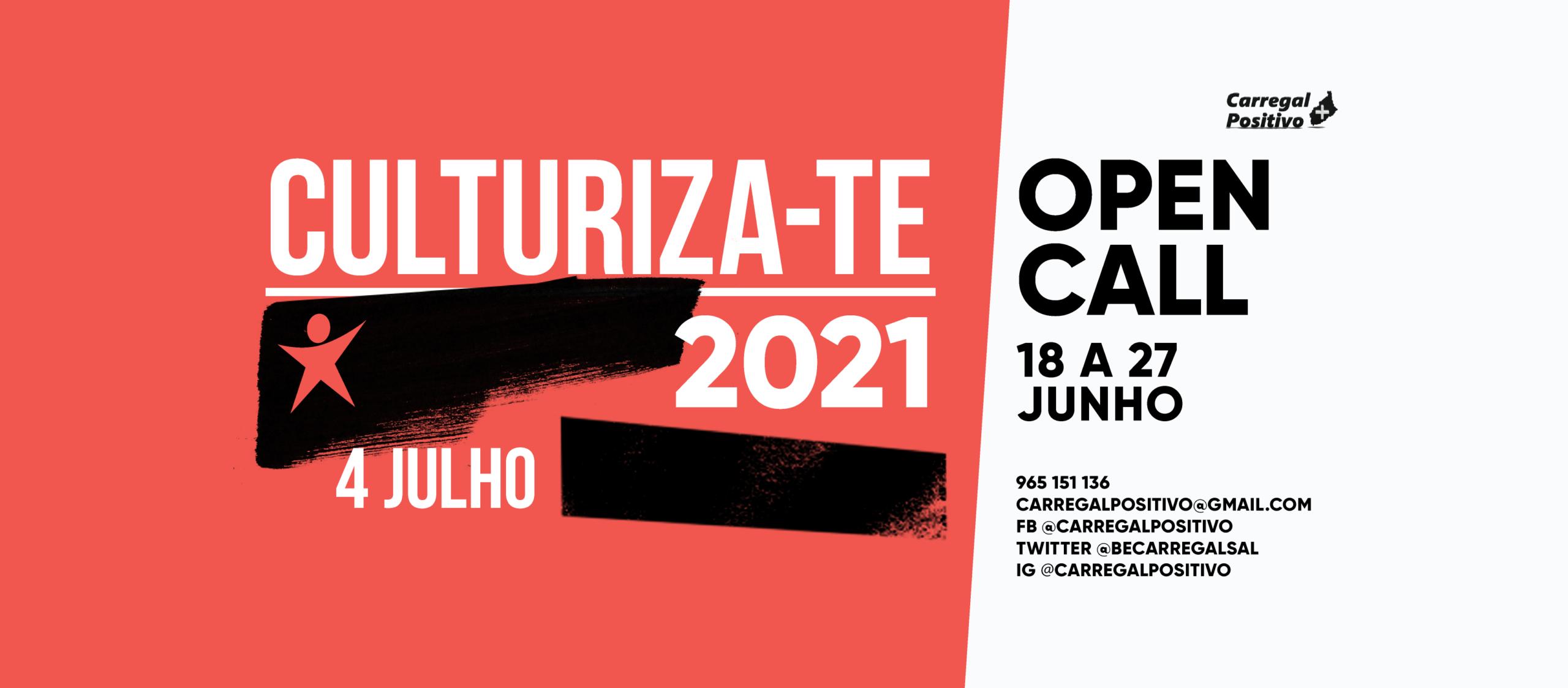 Culturiza-te 2021: Open Call até 27 de junho